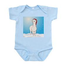 Santa Alpaca Infant Bodysuit