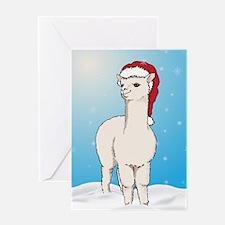 Santa Alpaca Greeting Card