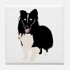 Shetland Sheepdog v4 Tile Coaster