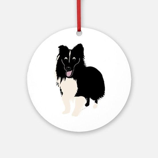 Shetland Sheepdog v4 Ornament (Round)