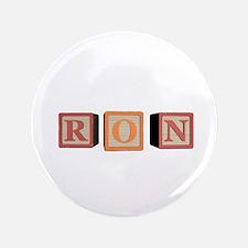 "Ron Alphabet Block 3.5"" Button (100 pack)"