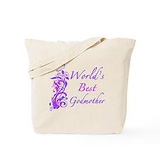 World's Best Godmother (Floral) Tote Bag