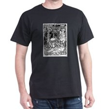 Alice in Wonderland Black T-Shirt