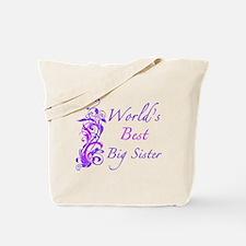 World's Best Big Sister (Floral) Tote Bag