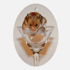 Cheers! Hamster Ornament (Oval)