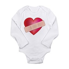 Healing Heart Long Sleeve Infant Bodysuit