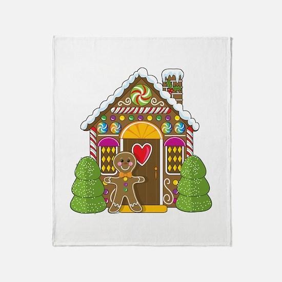 Gingerbread House Throw Blanket