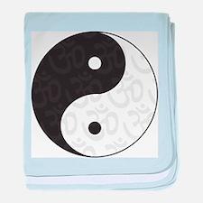 Ying Yang Yoga baby blanket
