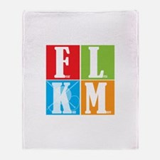 Fear Less KNIT More! Throw Blanket