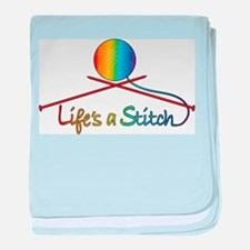 Life's a Stitch baby blanket