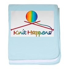 Knit Happens baby blanket