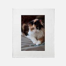 Calico Kitty Throw Blanket