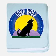 Lone Wolf baby blanket