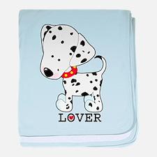 Dalmatian Lover baby blanket
