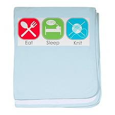 Eat Sleep Knit baby blanket