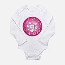 Eat Sleep Scrapbook Long Sleeve Infant Bodysuit
