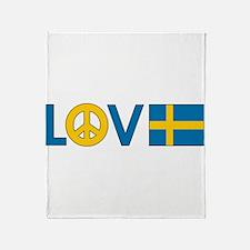 Love Peace Sweden Throw Blanket