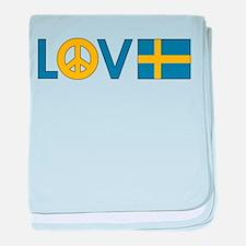 Love Peace Sweden baby blanket