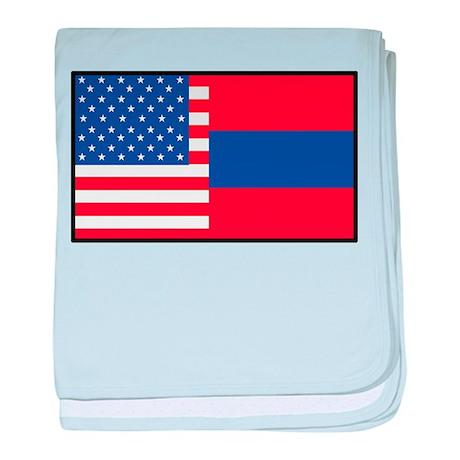 USA/Armenia baby blanket