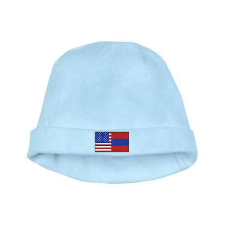 USA/Armenia baby hat