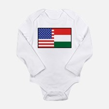 USA/Hungary Long Sleeve Infant Bodysuit