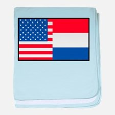 USA/Holland baby blanket