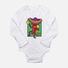 Mexican Chili Long Sleeve Infant Bodysuit