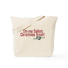 Christmas Treat Navy GF Tote Bag