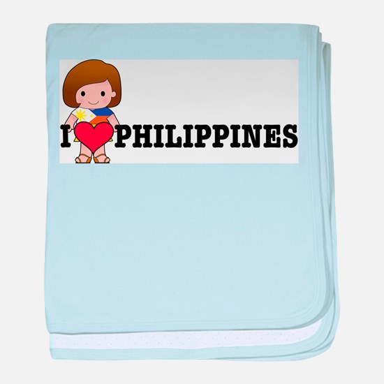 I love Philippines baby blanket