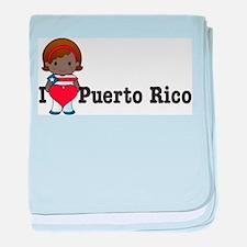 I Love Puerto Rico baby blanket
