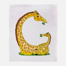 Animal Alphabet Giraffe Throw Blanket