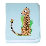 Animal Alphabet Jaguar baby blanket