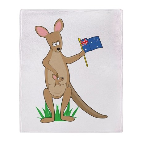 Animal Alphabet Kangaroo Throw Blanket