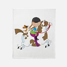 Horsey Holly Throw Blanket