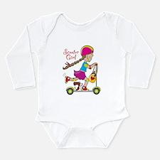Scooter Girl Long Sleeve Infant Bodysuit