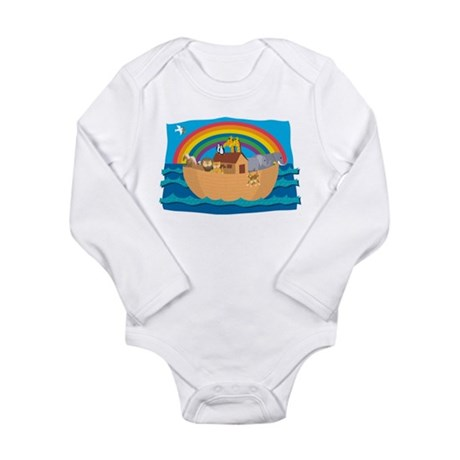 Noah's Ark Long Sleeve Infant Bodysuit