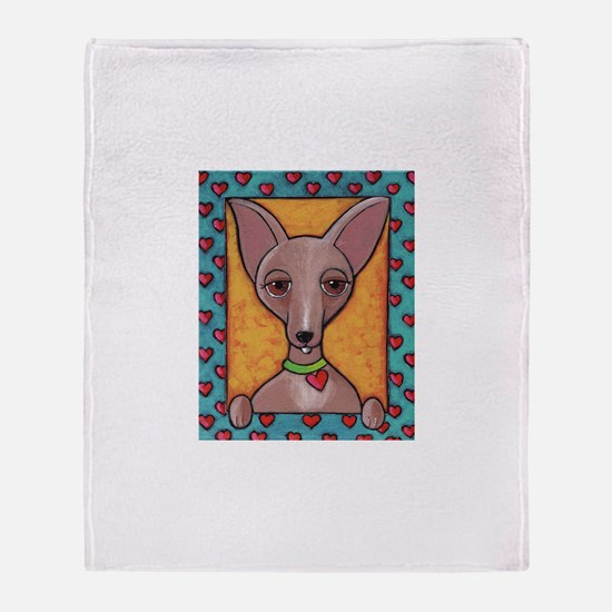 Bedazzled Chihuahua Throw Blanket