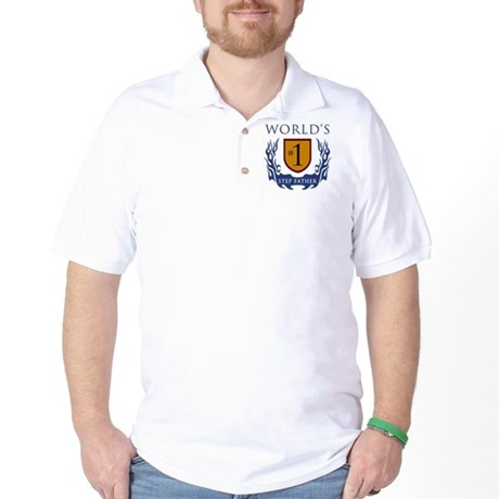 World's Number 1 Step Father Golf Shirt