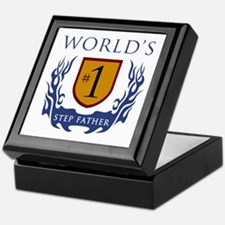 World's Number 1 Step Father Keepsake Box