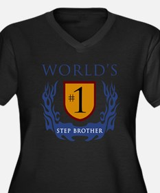 World's Number 1 Step Brother Women's Plus Size V-