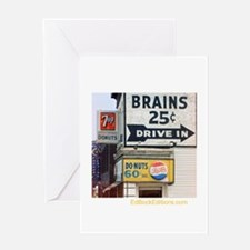 Brains 25 Cents Greeting Card