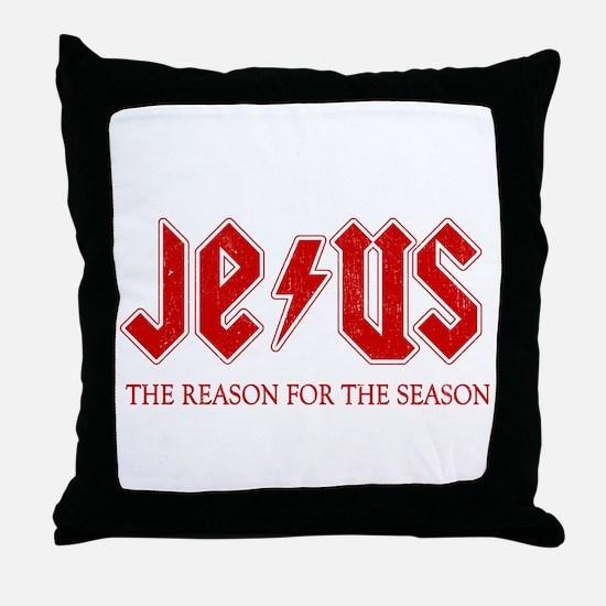 Jesus Reason for the Season Throw Pillow