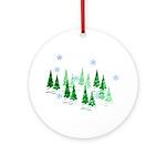 Evergreen Winter Ornament (Round)