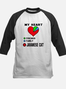 My heart friends, family Java Kids Baseball Jersey