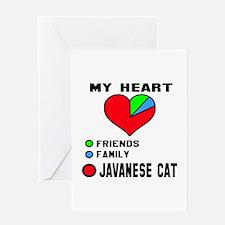 My heart friends, family Javanese ca Greeting Card