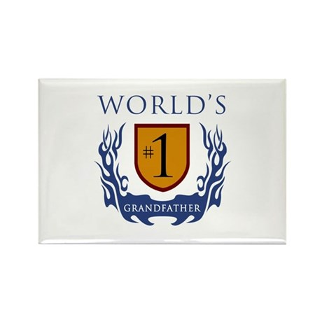 World's Number 1 Grandfather Rectangle Magnet