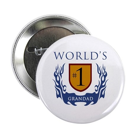 """World's Number 1 Grandad 2.25"""" Button (100 pack)"""