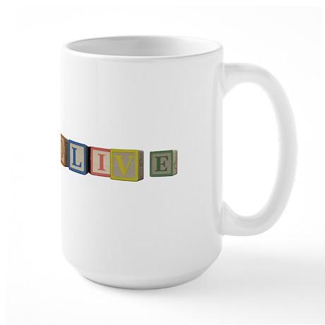 Olive Alphabet Block Large Mug