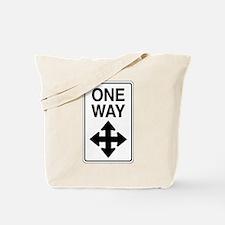 Road Sign Zen Tote Bag