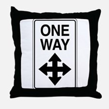 Road Sign Zen Throw Pillow